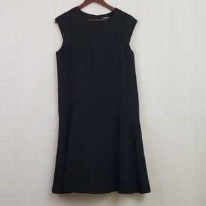 Lauren Ralph Lauren Black Fit Flare Dress Knee 12